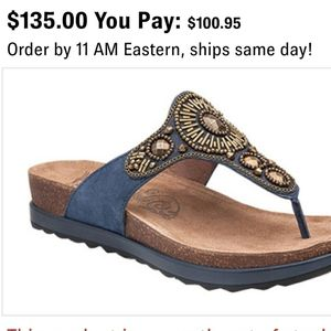 NEW Dansko Pamela Blue Leather Thong sandal